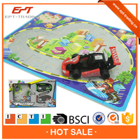 Kids battery operated puzzle vehicle play set with ICTI