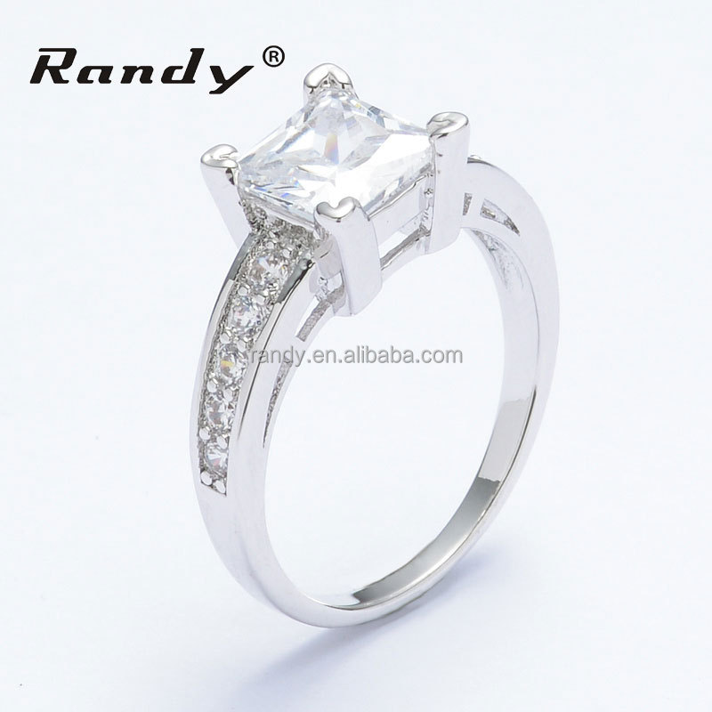 wholesale jewelry fashion cz wedding ring brass