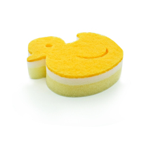 Promotional Animal Shape Duck Cleaning Kitchen Scourer Sponge