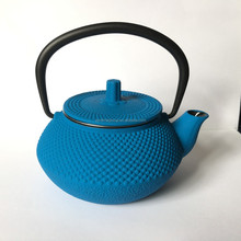 colorful unique gift cast Iron teapot inner enameled