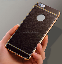 hot sale classic tpu pu combo electroplating leather mobile phone case shell for iphone 5 5s for iphone 6 6s plus