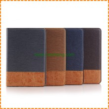 High quality plain pu leather wallet case for ipad mini 4