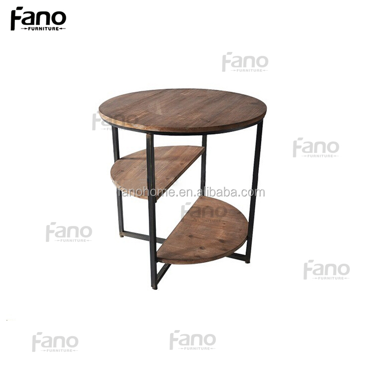 venetian antique round unique wooden end side tables