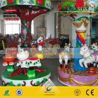 3 seats mini carousel horses rides carousel animal park merry go round kiddie ride game machine WANGDONG The animal Park