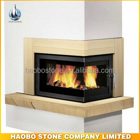 New And Hot Sale Yellw Sandstone Fireplace ,Wood Burning Stove Fireplace