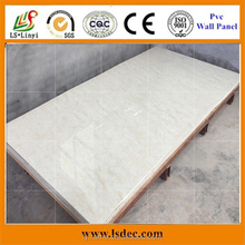 integrated decorative pvc wall panels /laminated pvc bathroom uv marble sheet/ board /fiber cement board