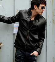 Z85521A 2015 hot sale!! latest style casual fashion leather PU man's jacket