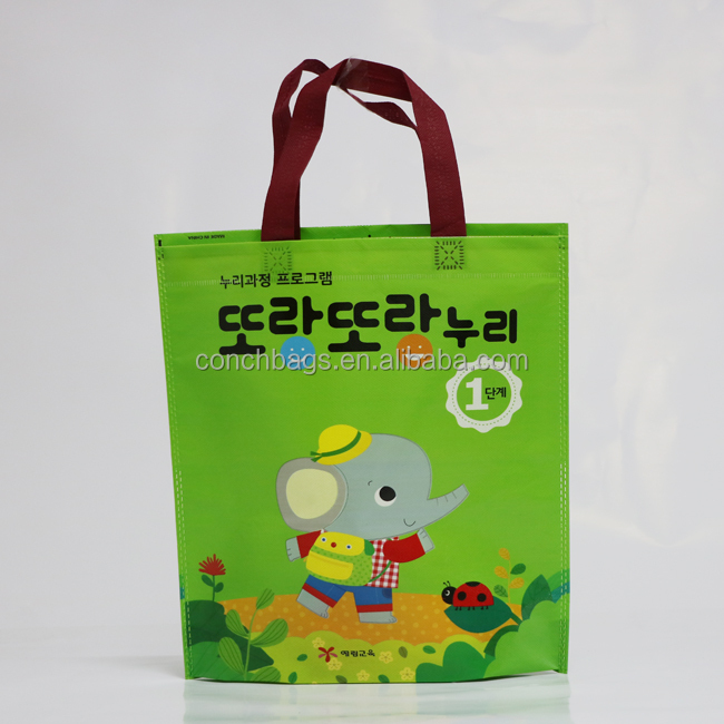 Recycleable promotional cheap microwave eco-friendly non woven bag for shopping