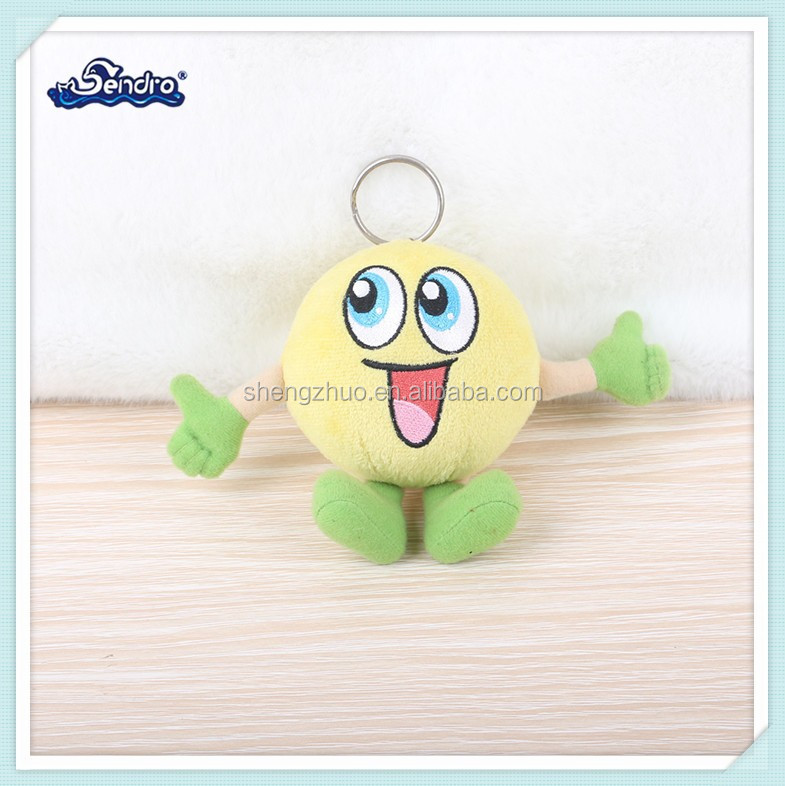 cartoon image adorable stuffed plush pear keychain for children gift