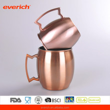 2016 summer 500mL (17oz) Double Wall Stainless Steel Copper Plated Beer Cup with Handle