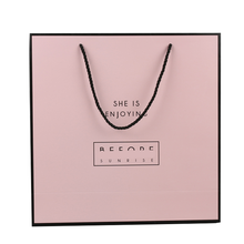 Custom High Quality Die Cut Colored Matter Big Pink Paper Bag