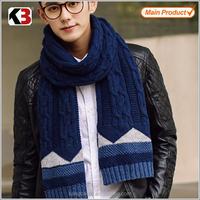 2016 New winter warm fashion warm man knitting scarf wholesale knitted mens scarf shawl scarf