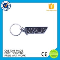 New Inventions knife metal keychain with text
