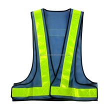 V type Reflective safety vest for roadway safety, mesh reflective vest