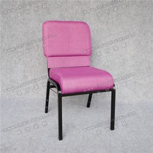 Light purple cathdral chairs durable tubular steel chairs for church YC-G90
