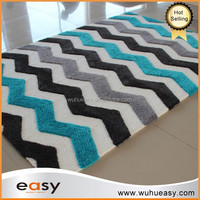 2016 new fashion ZIG ZAG design modern area rug