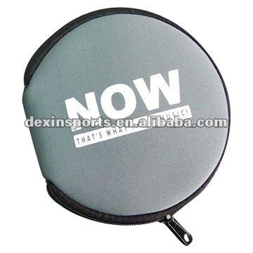 Round 20pages neoprene CD/DVD case with zipper closure
