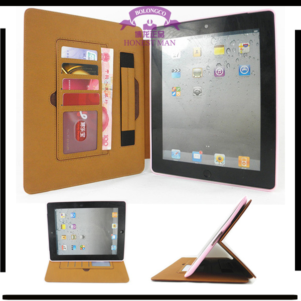 flip cover case for android tablet TPU shell case multifunction Leather wallet case with credit/business card holder