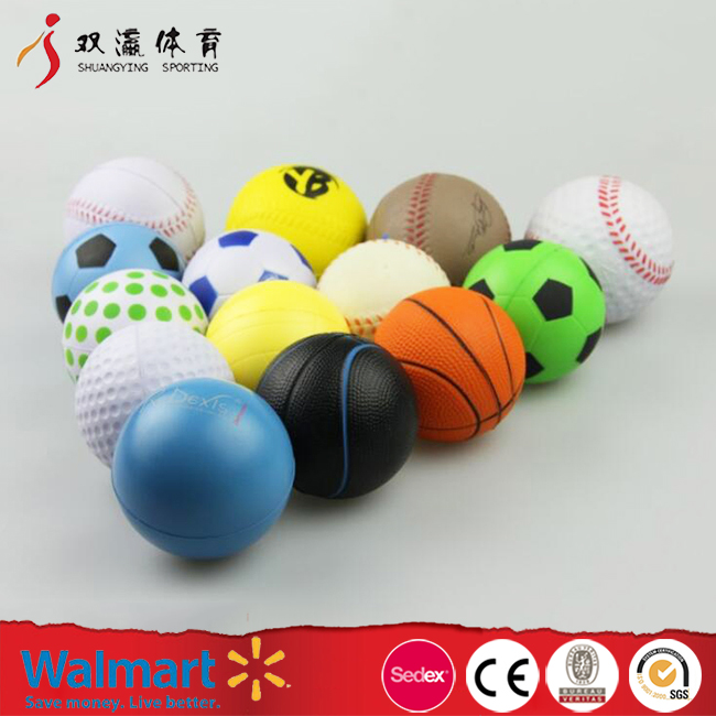 contact stress ball with different sports ball shape,pu foam anti stress ball