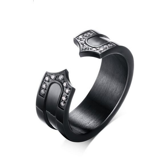 2016 Fashion men's titanium rings 316l stainless steel rings silver/black/gold plating never fade