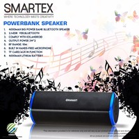 2016 Popular High quality Powerbank bluetooth speaker music player and charger blue red black 2.1+EDR 6W AUX and TF card