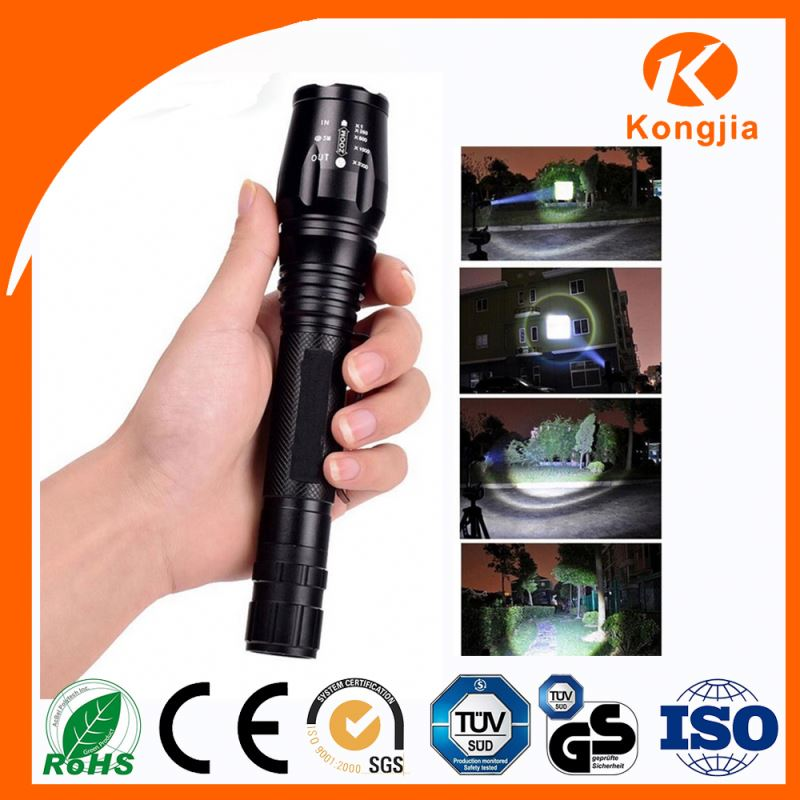 High Quality Reputation Ultra-Bright Rechargeable Battery 300 Lumen Flashlight