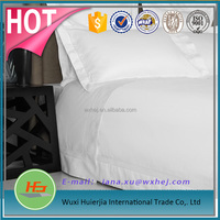 Cotton Sateen Fabric White Bedding Hotel Bed Sheet Set