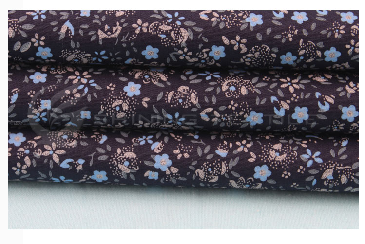 custom new woven fashion design printing shirt fabric
