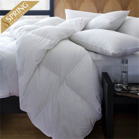 luxury white hotel thick microfiber filling quilts wholesale