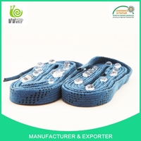100% Polyester Water Proof Waxed Hockey Shoelaces