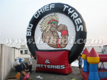 Inflatable advertising tire Balloon, outdoor giant inflatable tire for advertising K3041