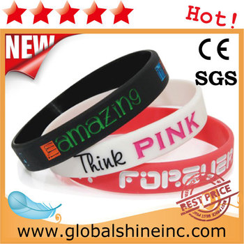 2015 Hot custom cheap custom silicon bracelet