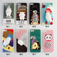 2017 New Popular 3D squeeze squishy animal silicone tpu soft phone case for iphone 7 imd case