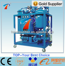TOP Automatic Lubricants Turbine Oil Purifcation Machine for Filtering,Gas /Water Turbine Lube Oil,less power consumption