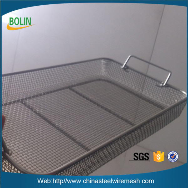 Reusable 304 Stainless Steel Laboratory Wire Basket