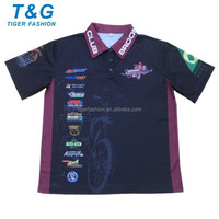 Gym wear top quality racing pit crew shirt