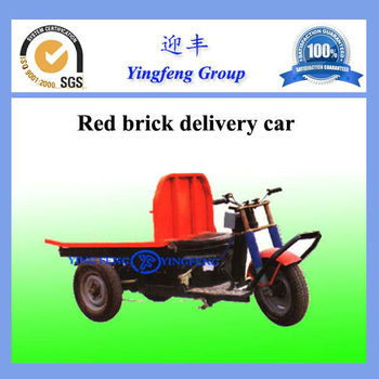Red brick delivery car, red brick carrying cart,dried brick delivery car