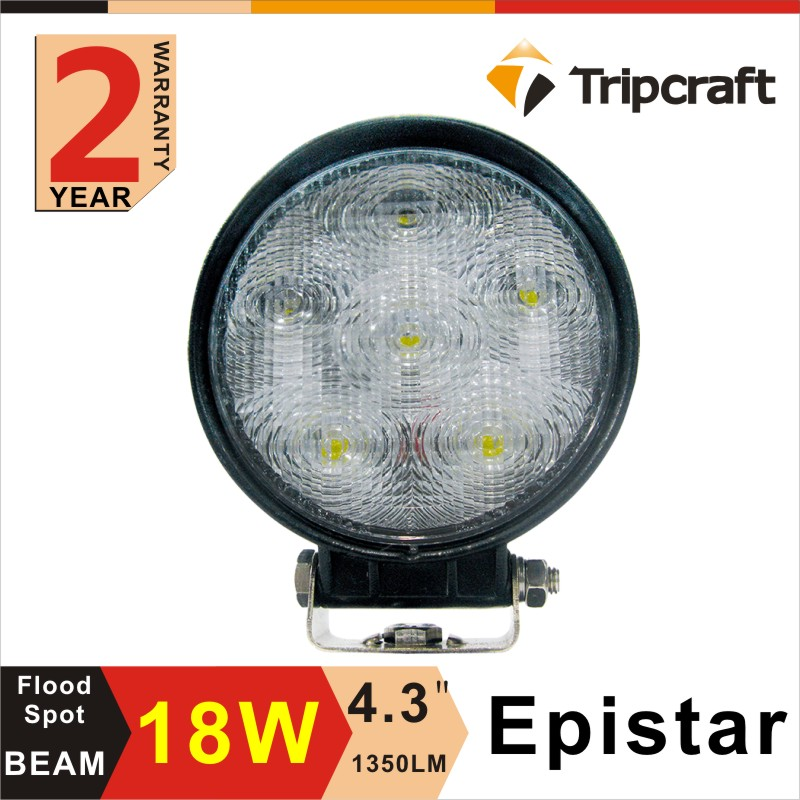 18W Hight Intensity LEDs 4.3 Inch Round LED Work Light LED Worklight for Truck ,Off-road Vehicles,4x4
