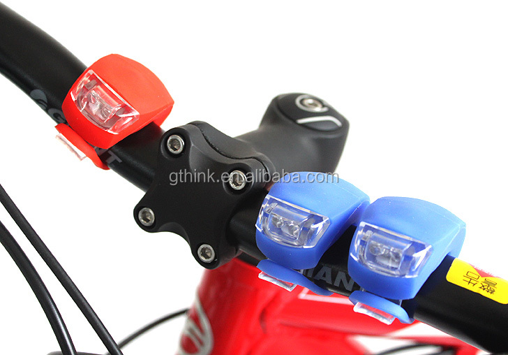 Silicone Bike Bicycle Light Head Front Cycling Light Rear Wheel LED Flash Bike Lights Lamp