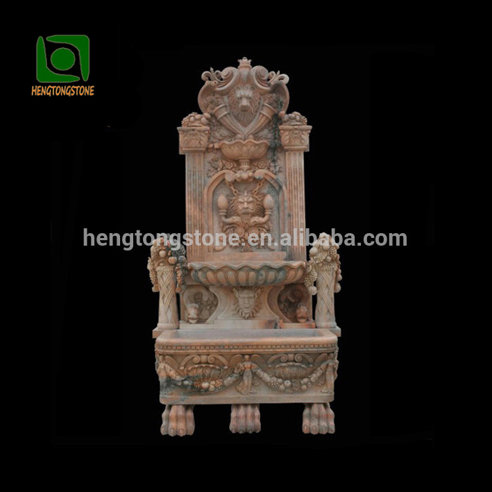 Garden Stone Lion Head Wall Waterfall Fountain