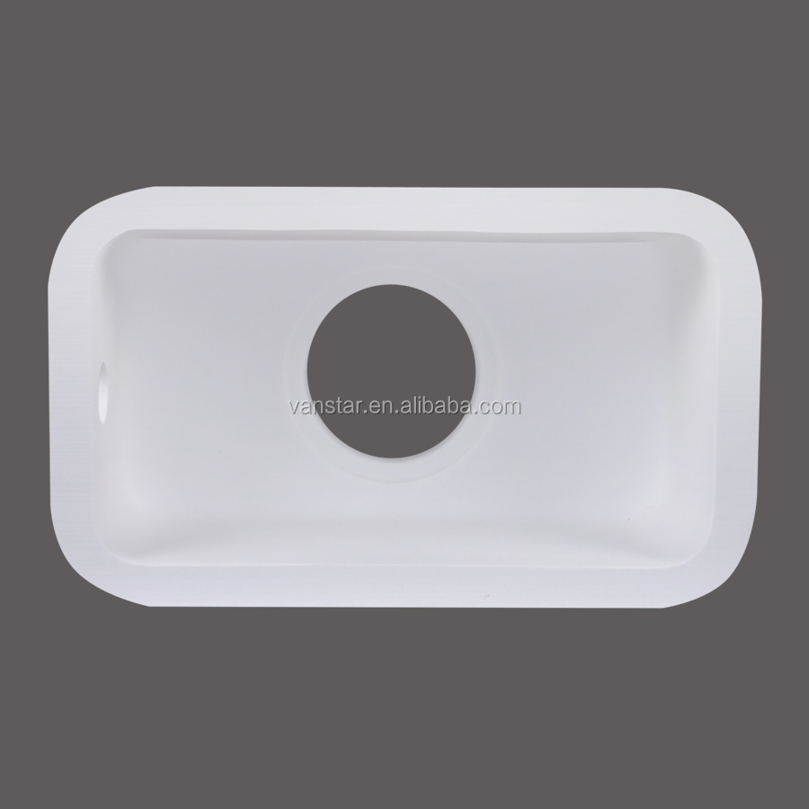 New Design Solid Surface Acrylic Resin Stone Quartz Kitchen Sink