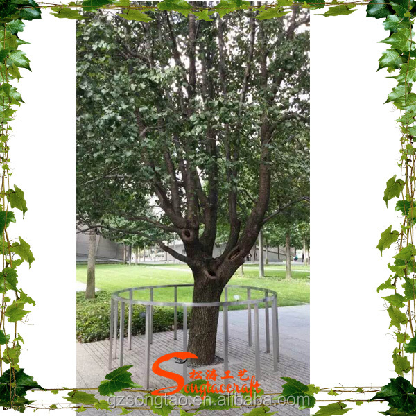 Outdoor Artificial Trees Landscaping Green Plastic Leaf Banyan Tree for Weddings and Garden Decor