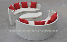 Hotsale Patio Outdoor Furniture Round Rattan Wicker Sun bed FCO-TCS02