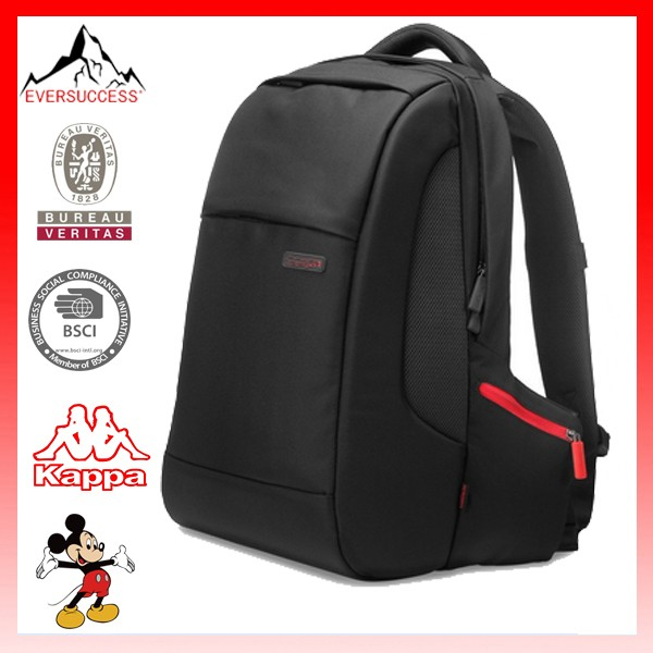 "16"" High Tech Fancy Trendy Black Business Laptop Backpack Bag"