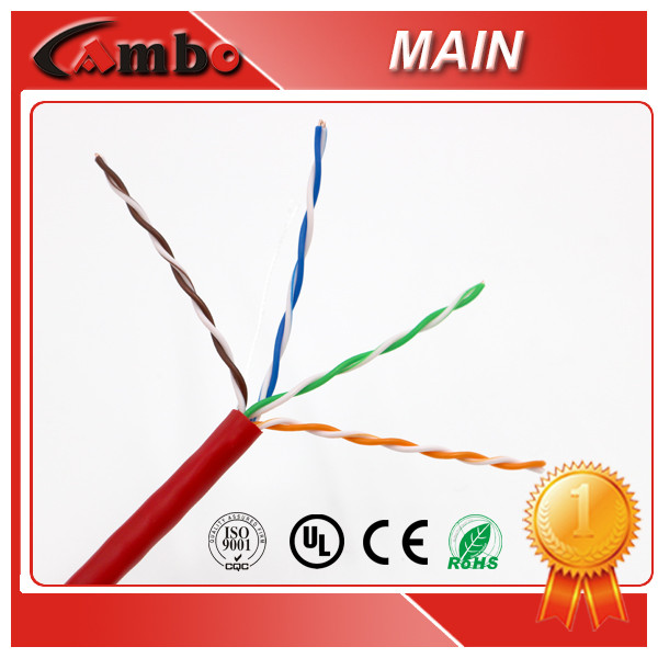 CAT5E Color Code For Lan Cable 0.5MM 24AWG 8 Number Pure Copper