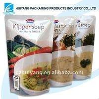 plastic standing zip lock bag for food packaging