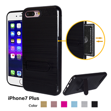 Brushed hair lines credit card mobile phone cover for iphone 8