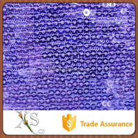 China Supplier Designer Deep Purple Sequin Fabric For Girl Clothing