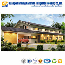 Full furnished light steel luxury prefabricated house villa