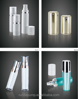 Wholesale empty airless cosmetic 30ml square and round shape glass lotion spray pump bottles